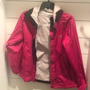 North face pink hackers hooded small. Worn once